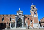 image of arsenal  - View of the Arsenale in Venice Italy - JPG