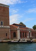 picture of arsenal  - View of Arsenale building in Venice Italy - JPG