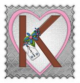 stock photo of letter k  - The letter K in the alphabet set  - JPG