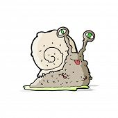 foto of gross  - cartoon gross slug - JPG