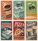 picture of food label  - Vintage collection of food and restaurants posters - JPG