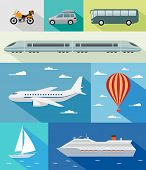 picture of sails  - Various types of transport - JPG