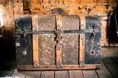 picture of chest  - Vintage Wooden Chest - JPG