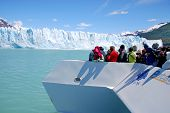 stock photo of lagos  - PERITO MORENO GLACIER - JPG