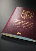 pic of passport cover  - Closeup of Finnish  - JPG
