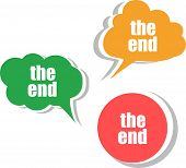 pic of box-end  - the end words on modern banner design template - JPG