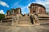 foto of polonnaruwa  - Historical Polonnaruwa capital city ruins in Srilanka - JPG
