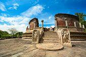 image of polonnaruwa  - Historical Polonnaruwa capital city ruins in Srilanka - JPG