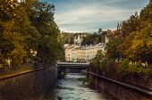 picture of bohemia  - Karlovy Varyis a spa city situated in western Bohemia Czech Republic - JPG