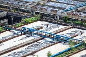 picture of sewage  - Complex of sewage treatment basins for water recycling - JPG