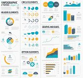 pic of graphs  - Large infographic vector elements template designers collection - JPG
