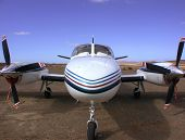 image of cessna  - nose of a Cessna Conquest II - JPG