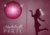 pic of bridal veil  - illustration of girl with bridal veil to bachelorette party - JPG