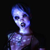 foto of gothic female  - Digital 3D Illustration of a Gothic Female - JPG