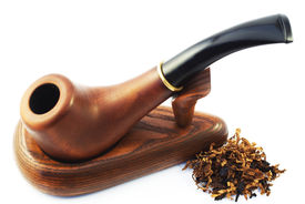 image of tobacco-pipe  - Pipe with tobacco - JPG