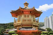 pic of hong kong bridge  - golden pavilion at Diamond Hill - JPG