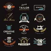 foto of tailoring  - Set of tailor labels - JPG
