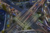 stock photo of overpopulation  - Urban traffic and congestion with Speed and Motion concept - JPG