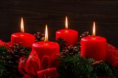 picture of mood  - an advent wreath for christmas ensures romatinsche mood in the silent advent - JPG