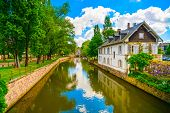 stock photo of petition  - Strasbourg water canal in Petite France area - JPG