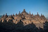 picture of arjuna  - Borobudur Temple at morning Yogyakarta Java Indonesia - JPG