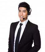 stock photo of telemarketing  - Customer services representative - JPG