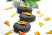 picture of stone-therapy  - studio shot of therapy stones for hot stone therapy - JPG