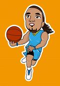 picture of slam  - cute cartoon basketball player slam dunk icon - JPG