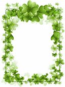 pic of st patrick  - An Illustration of a St Patrick Frame with Clipping Path - JPG