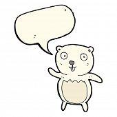 image of bear cub  - cartoon polar bear cub with speech bubble - JPG