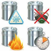 pic of respiration  - Paint properties icons with paint cans - JPG