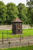 stock photo of auschwitz  - German concentration camp Auschwitz in Poland in summer day - JPG