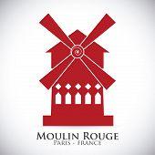 foto of moulin rouge  - Paris design - JPG