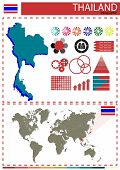 foto of nationalism  - Vector Illustration Thailand Country Nation National Culture Concept - JPG
