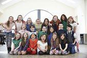 picture of drama  - Large Group Of Children Enjoying Drama Workshop Together  - JPG