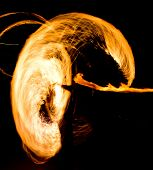 image of fiery  - Burning Man Fiery Motion  - JPG