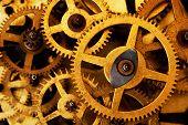 picture of gear wheels  - Grunge gear - JPG