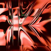 stock photo of psychedelic  - Abstract letter k - JPG