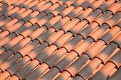 picture of red roof  - Old orange abstract  red roof tiles background - JPG