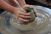 pic of molding clay  - A child - JPG
