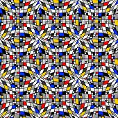 picture of quadrangles  - Design seamless colorful checked mosaic pattern - JPG