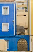 picture of costa blanca  - Mediterranean blue on old town houses Costa Blanca Spain - JPG