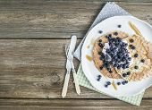 pic of maple syrup  - Dutch waffles with cream - JPG