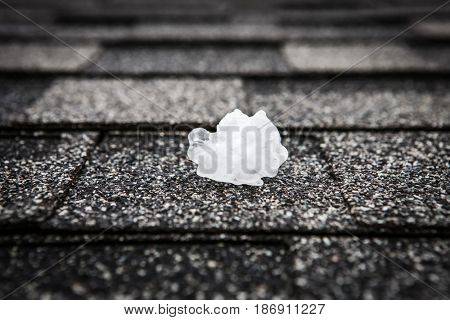 Hail on the roof after