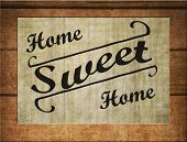 Home Sweet Home Sign poster