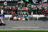 Daytona FEBRUARY 16: - Nascar Driver Dale Earnhardt Jr. pitts during the Great American Race, the Da