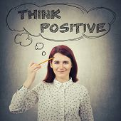 Think Positive Concept poster