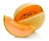 stock photo of melon  - cantaloupe melon - JPG