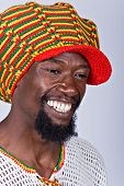picture of rastafari  - rasta man with traditional hat people diversity series - JPG