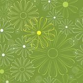 Vector flower background. Can be tiled.